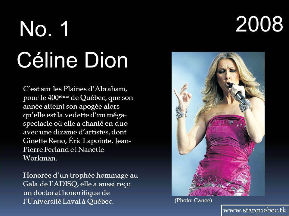 2008 No. 1. Céline Dion.