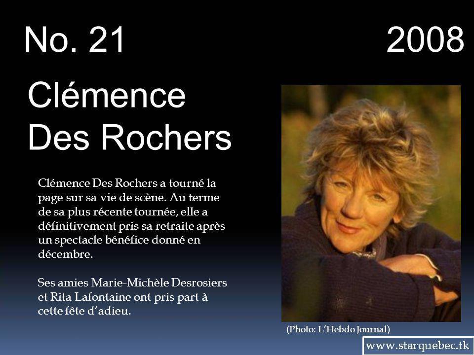 No. 21 2008 Clémence Des Rochers