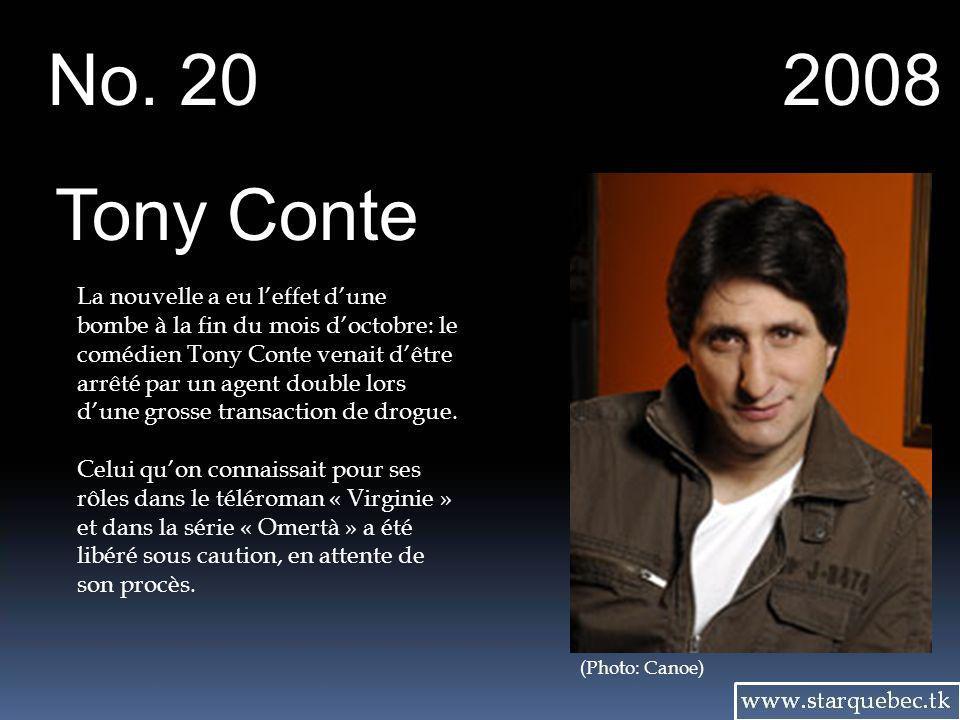 No. 20 2008. Tony Conte.