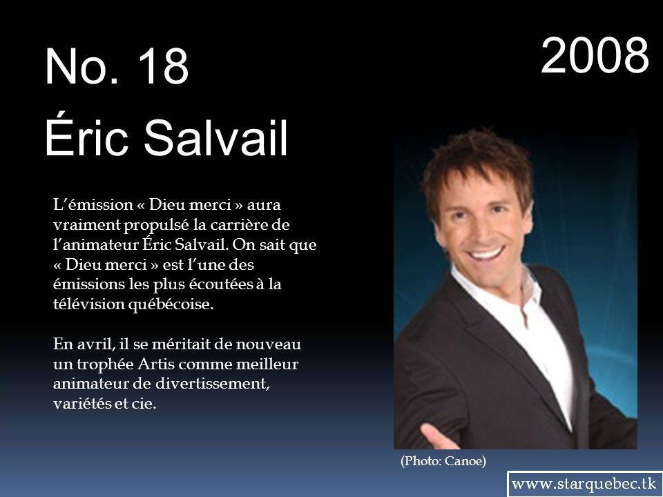 2008 No. 18. Éric Salvail.