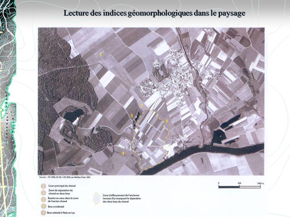 Lecture des indices géomorphologiques dans le paysage