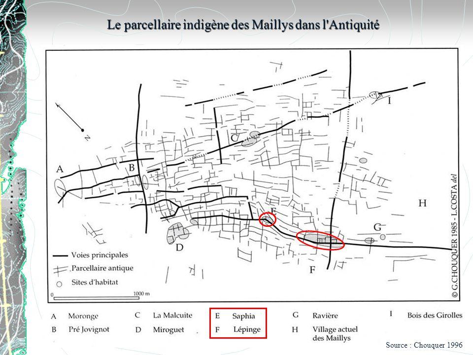 Le parcellaire indigène des Maillys dans l Antiquité