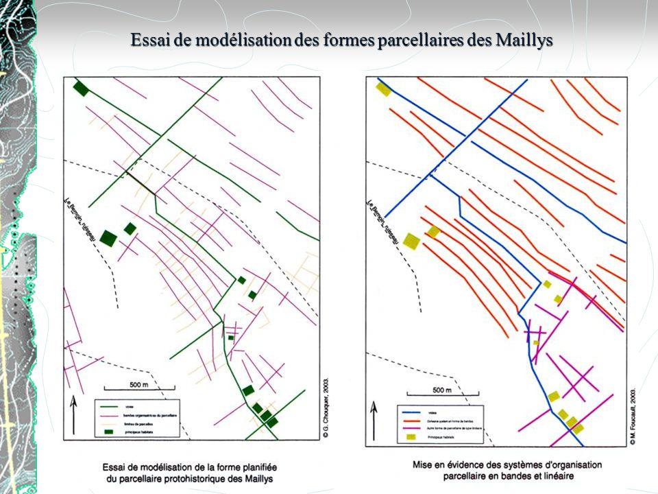 Essai de modélisation des formes parcellaires des Maillys