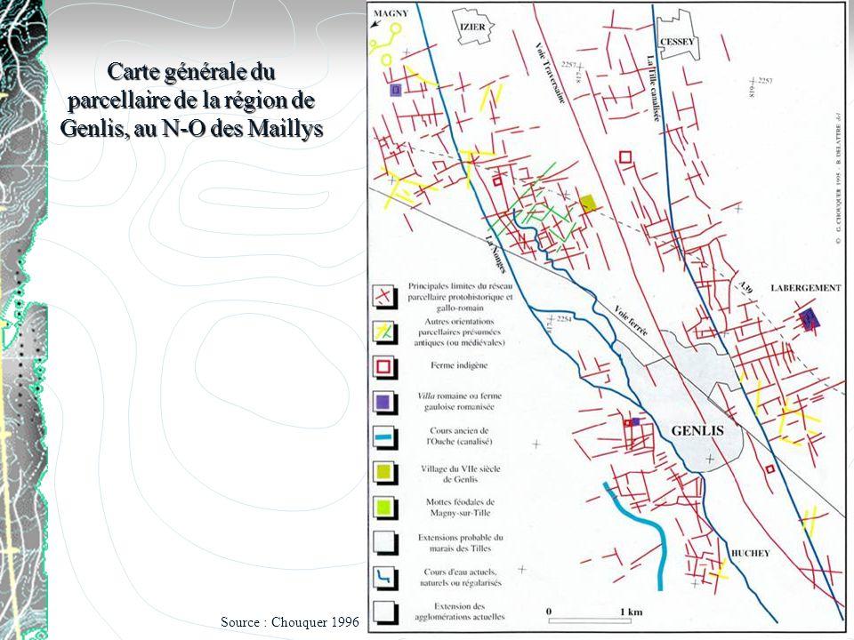 Carte générale du parcellaire de la région de Genlis, au N-O des Maillys