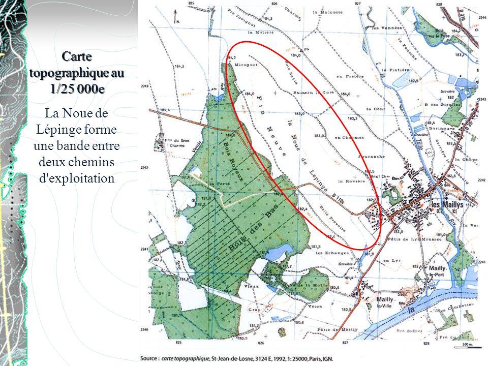 Carte topographique au 1/25 000e