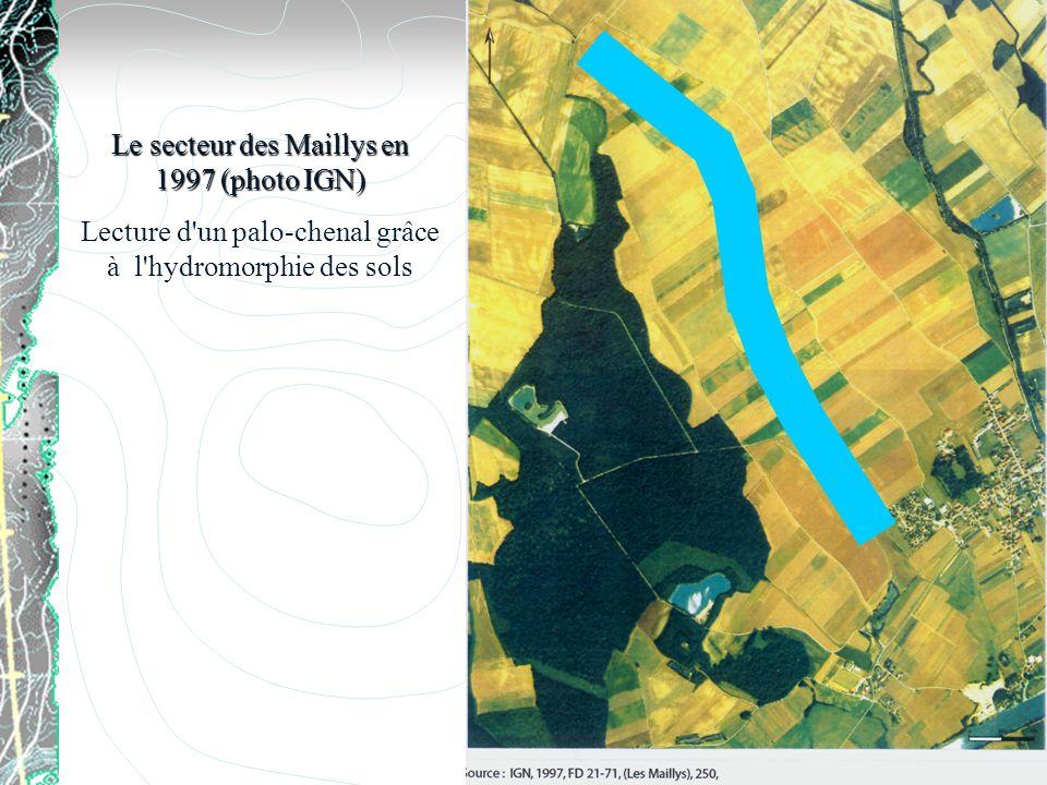 Le secteur des Maillys en 1997 (photo IGN)