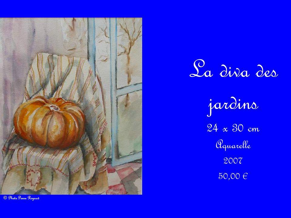 La diva des jardins 24 x 30 cm Aquarelle 2007 50,00 €