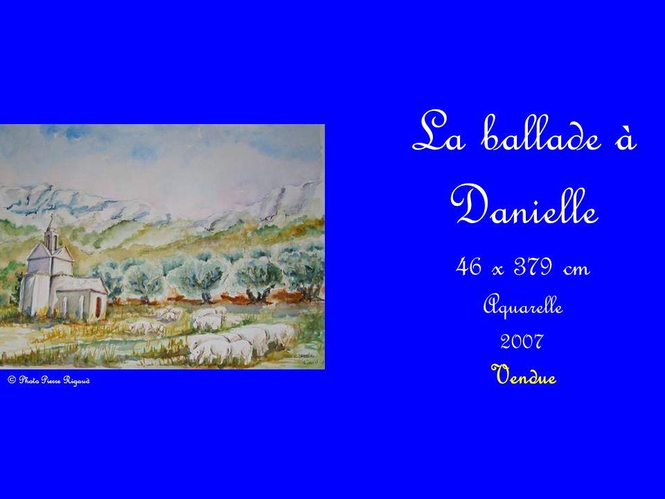 La ballade à Danielle 46 x 379 cm Aquarelle 2007 Vendue