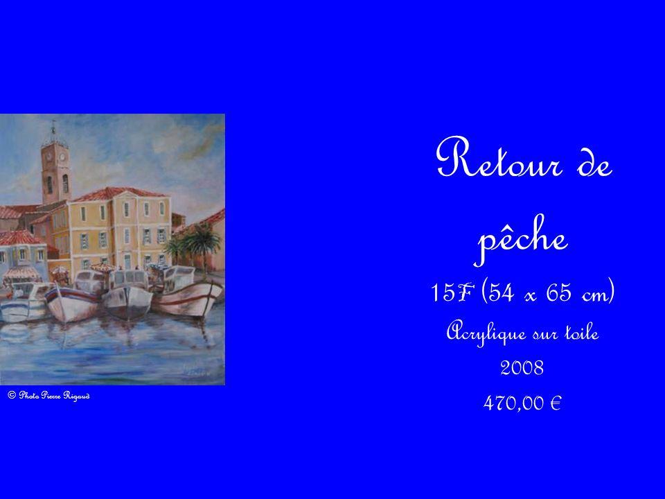 15F (54 x 65 cm) Acrylique sur toile
