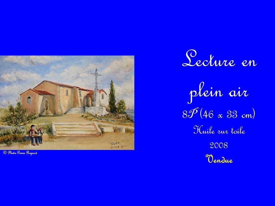 Lecture en plein air 8P (46 x 33 cm) Huile sur toile 2008 Vendue