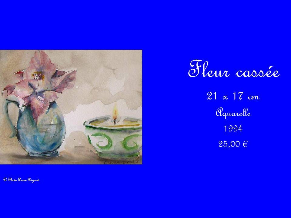 Fleur cassée 21 x 17 cm Aquarelle 1994 25,00 € © Photo Pierre Rigaud