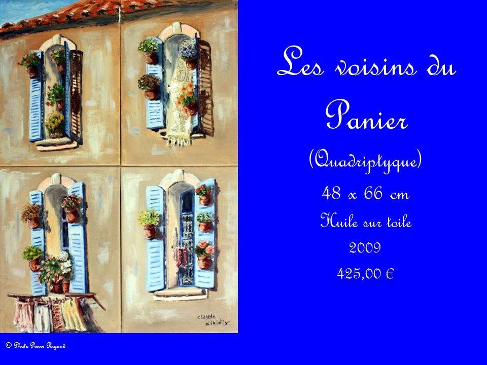 Les voisins du Panier (Quadriptyque) 48 x 66 cm Huile sur toile