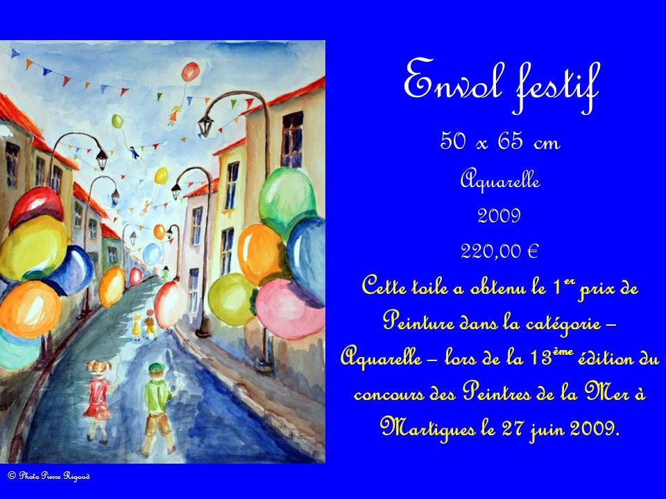 Envol festif 50 x 65 cm Aquarelle 2009 220,00 €