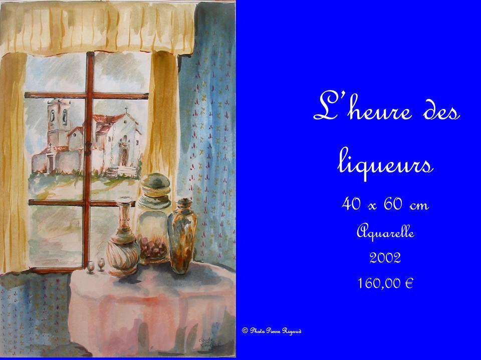 L'heure des liqueurs 40 x 60 cm Aquarelle 2002 160,00 €