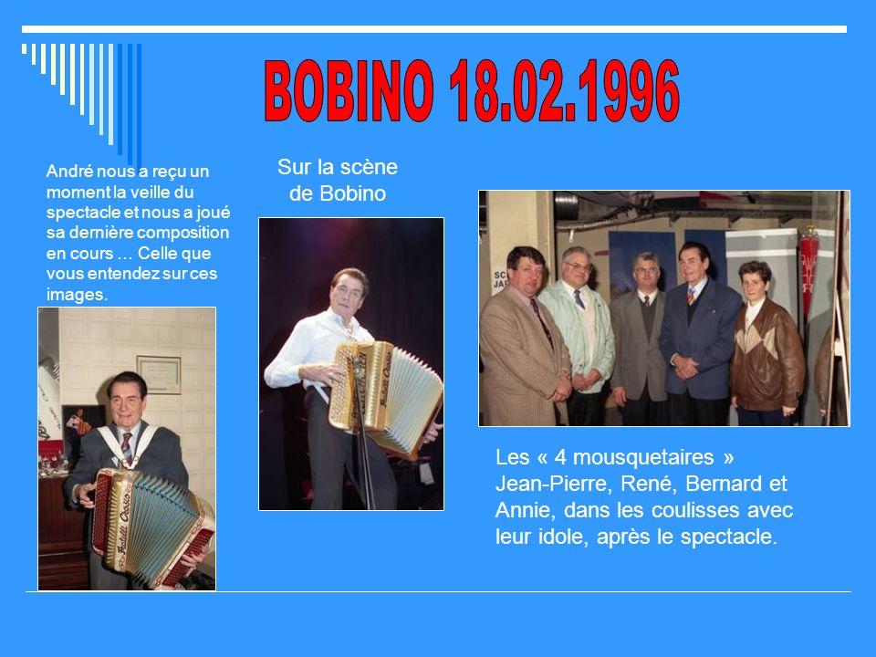 BOBINO 18.02.1996 Sur la scène de Bobino
