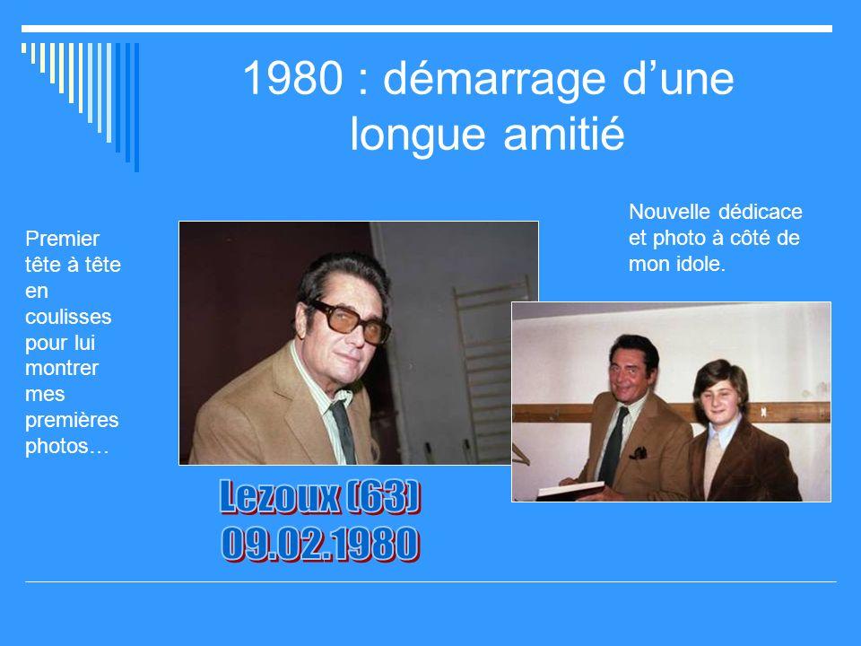 1980 : démarrage d'une longue amitié