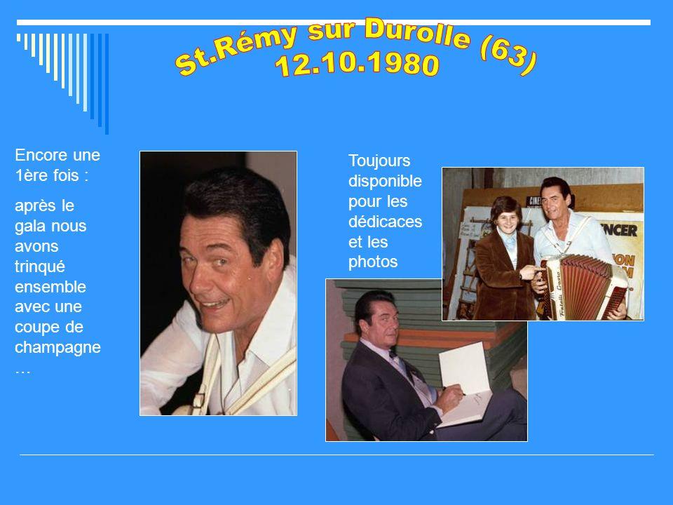 St.Rémy sur Durolle (63) 12.10.1980 Encore une 1ère fois :