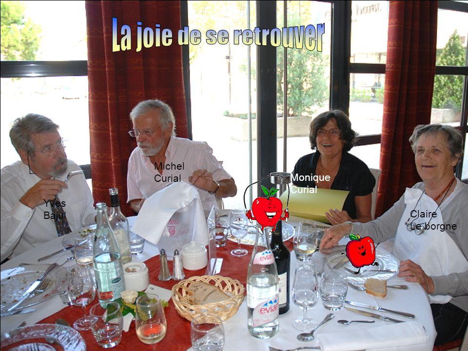 La joie de se retrouver Michel Curial Monique Curial Yves Bajul