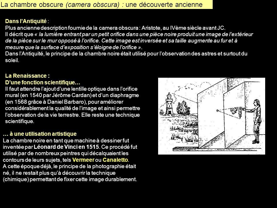 La chambre obscure (camera obscura) : une découverte ancienne