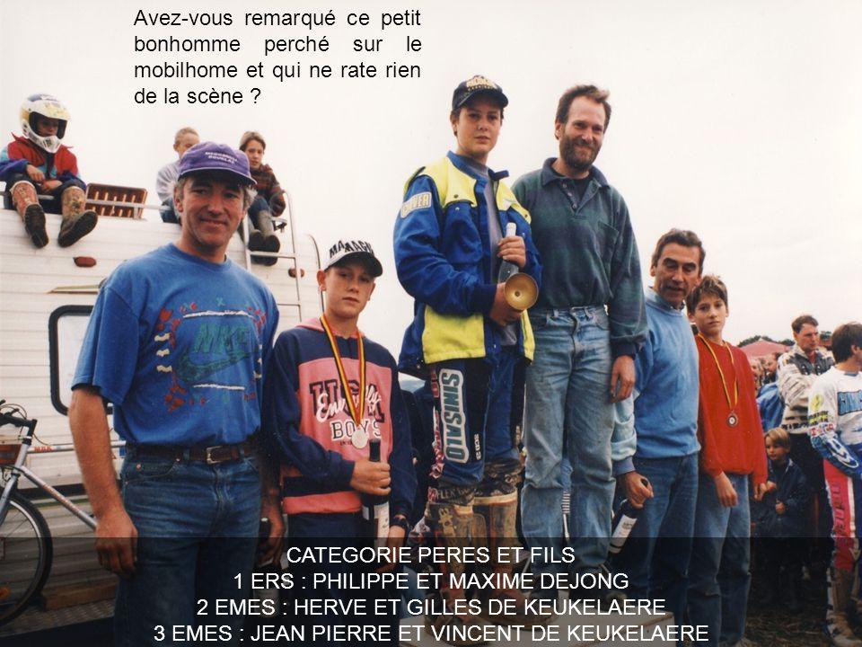 CATEGORIE PERES ET FILS 1 ERS : PHILIPPE ET MAXIME DEJONG