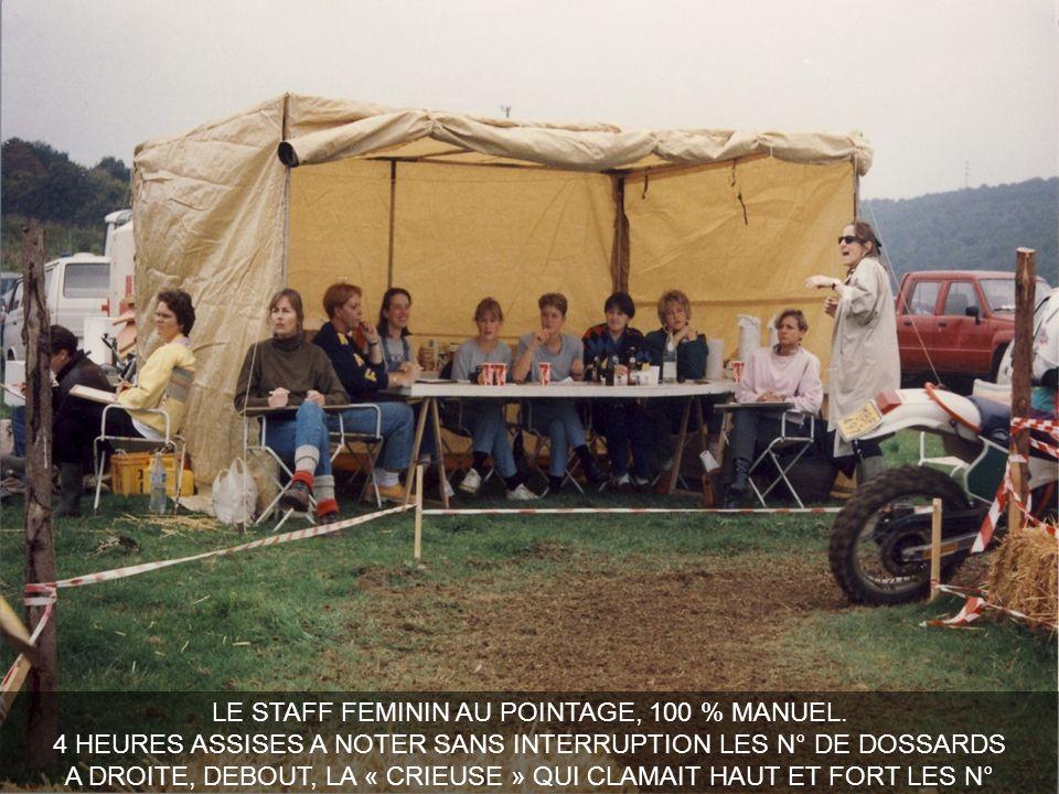 LE STAFF FEMININ AU POINTAGE, 100 % MANUEL.