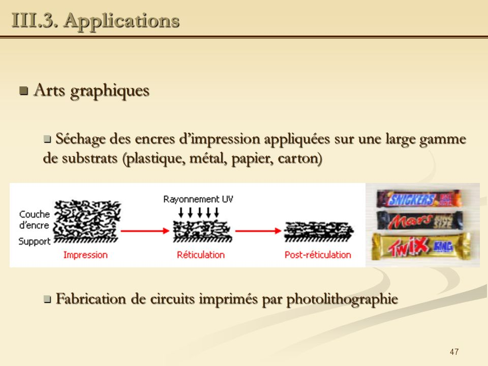 III.3. Applications Arts graphiques
