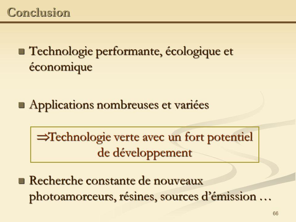 Technologie verte avec un fort potentiel