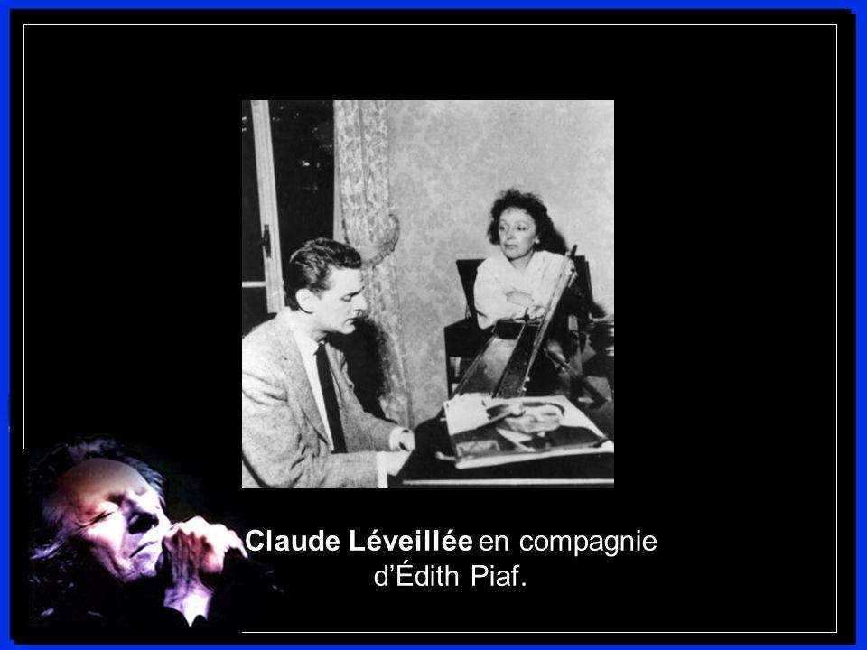 Claude Léveillée en compagnie d'Édith Piaf.