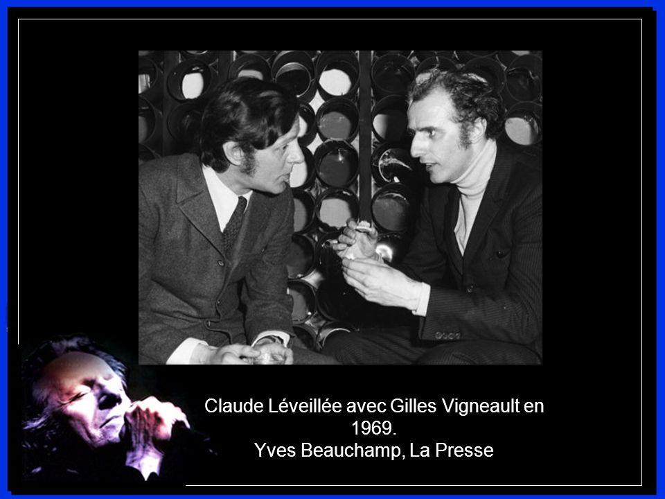 Claude Léveillée avec Gilles Vigneault en 1969