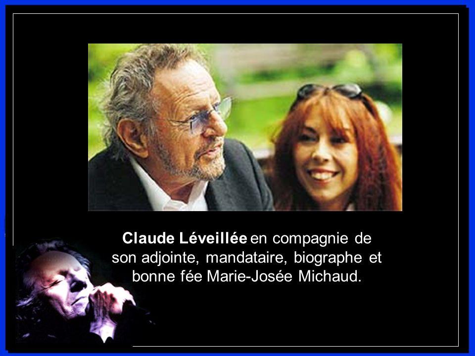 Claude Léveillée en compagnie de son adjointe, mandataire, biographe et bonne fée Marie-Josée Michaud.