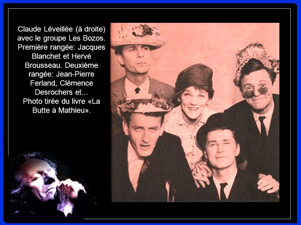 Claude Léveillée (à droite) avec le groupe Les Bozos