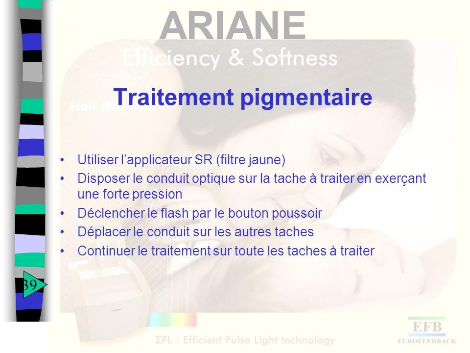 Traitement pigmentaire