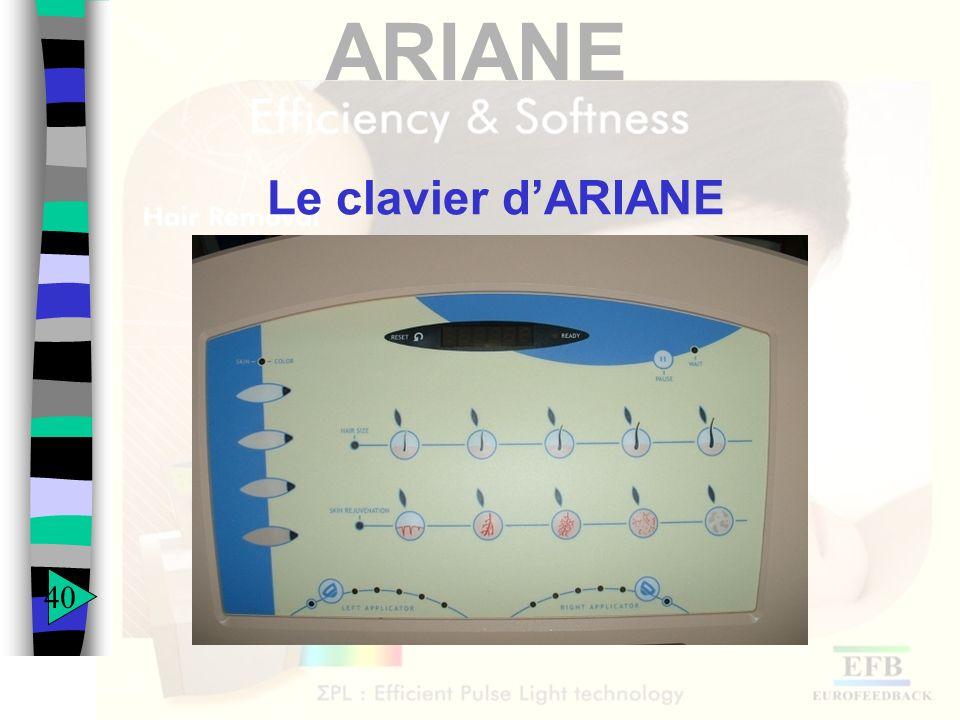 Le clavier d'ARIANE 40