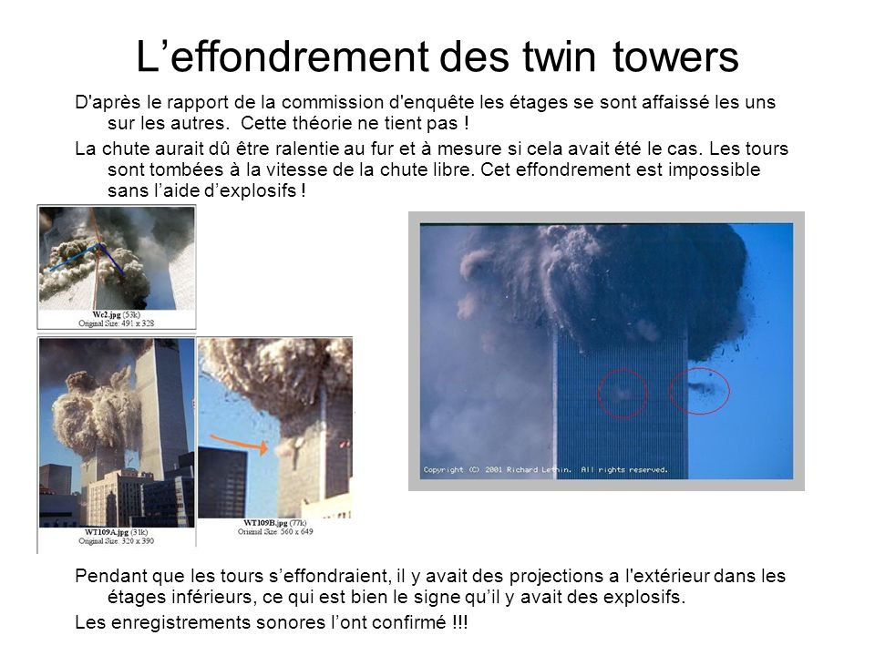 L'effondrement des twin towers