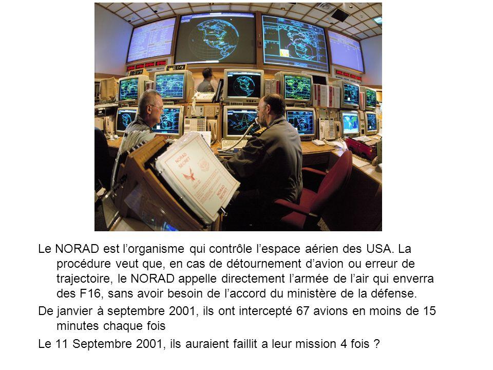 Le NORAD est l'organisme qui contrôle l'espace aérien des USA