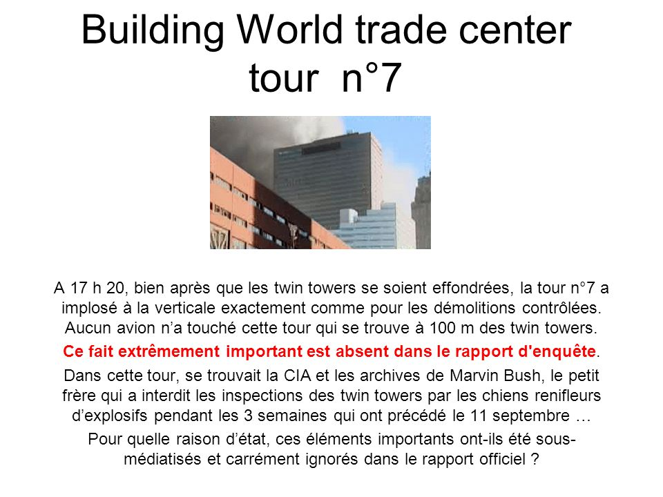 Building World trade center tour n°7