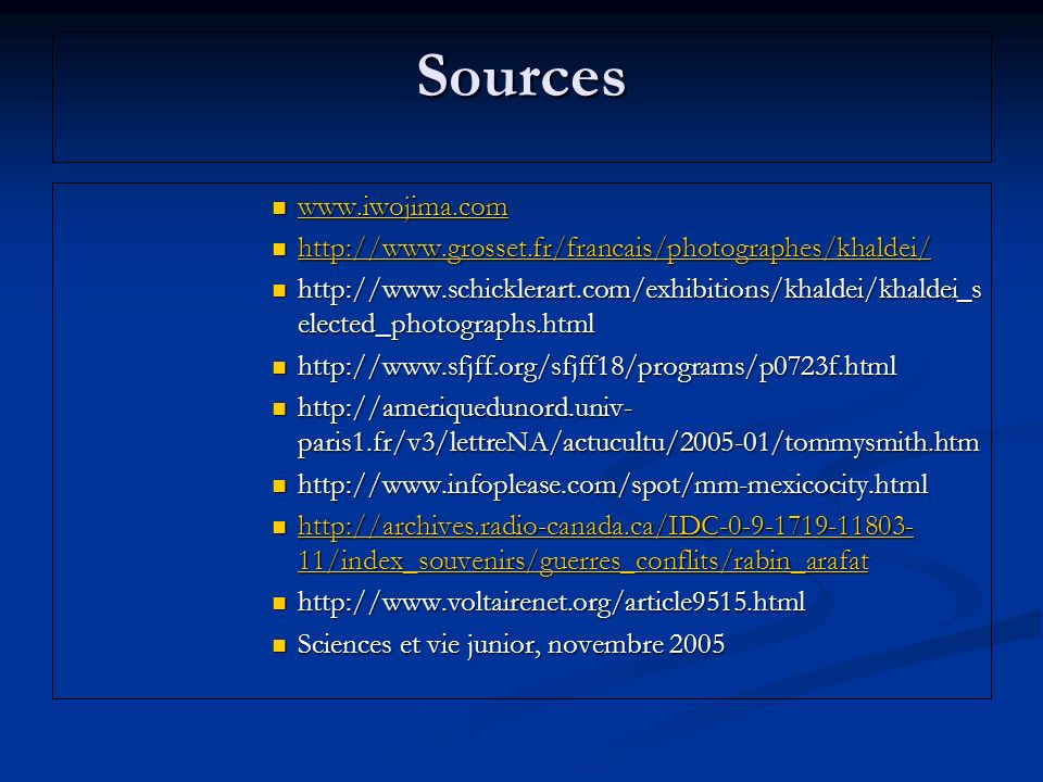 Sources www.iwojima.com