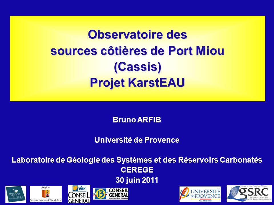 Observatoire des sources côtières de Port Miou (Cassis) Projet KarstEAU