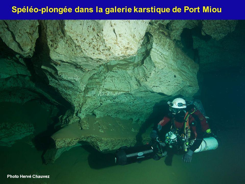 Spéléo-plongée dans la galerie karstique de Port Miou