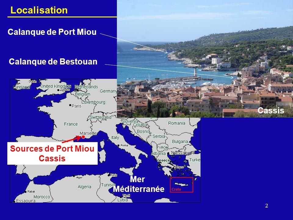 Localisation Calanque de Port Miou Calanque de Bestouan Cassis