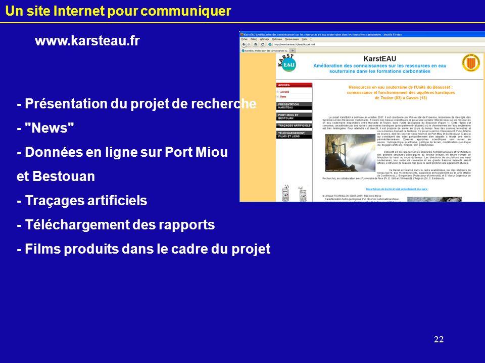 Un site Internet pour communiquer