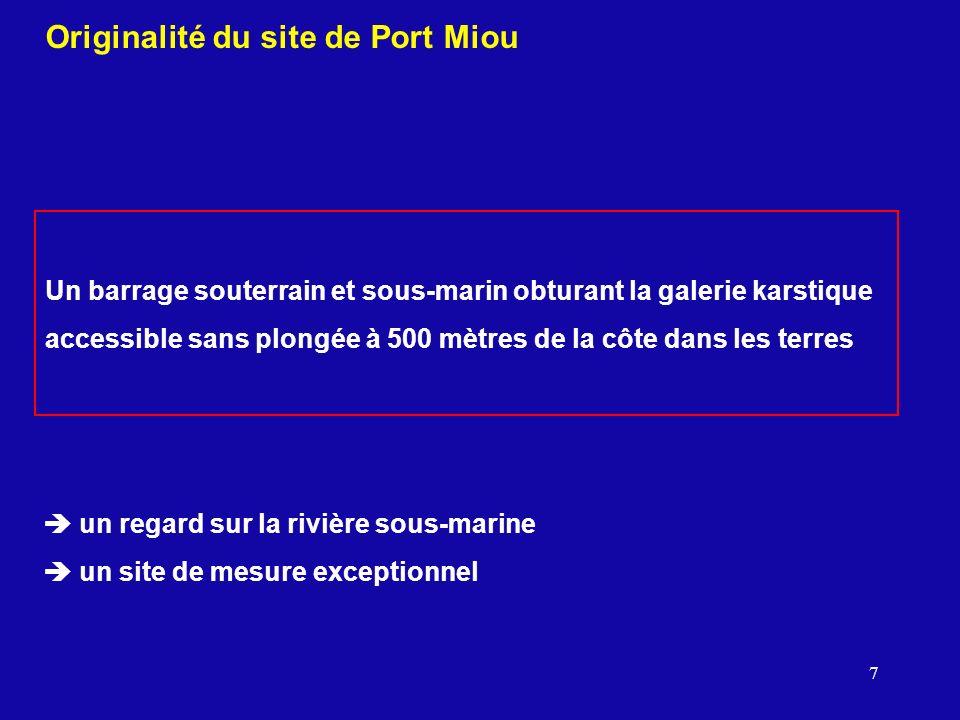 Originalité du site de Port Miou