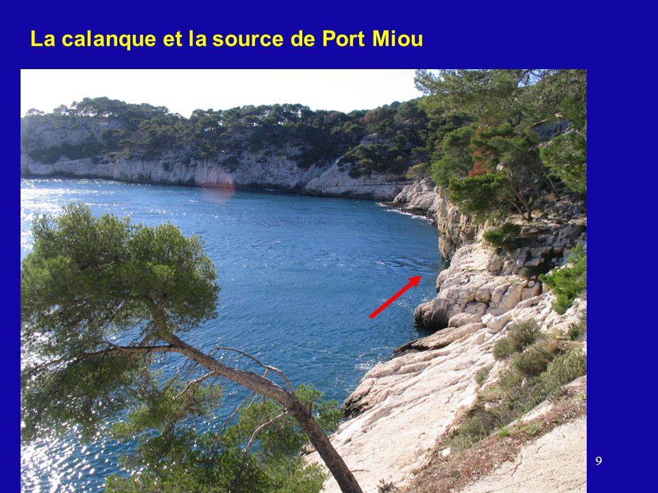 La calanque et la source de Port Miou