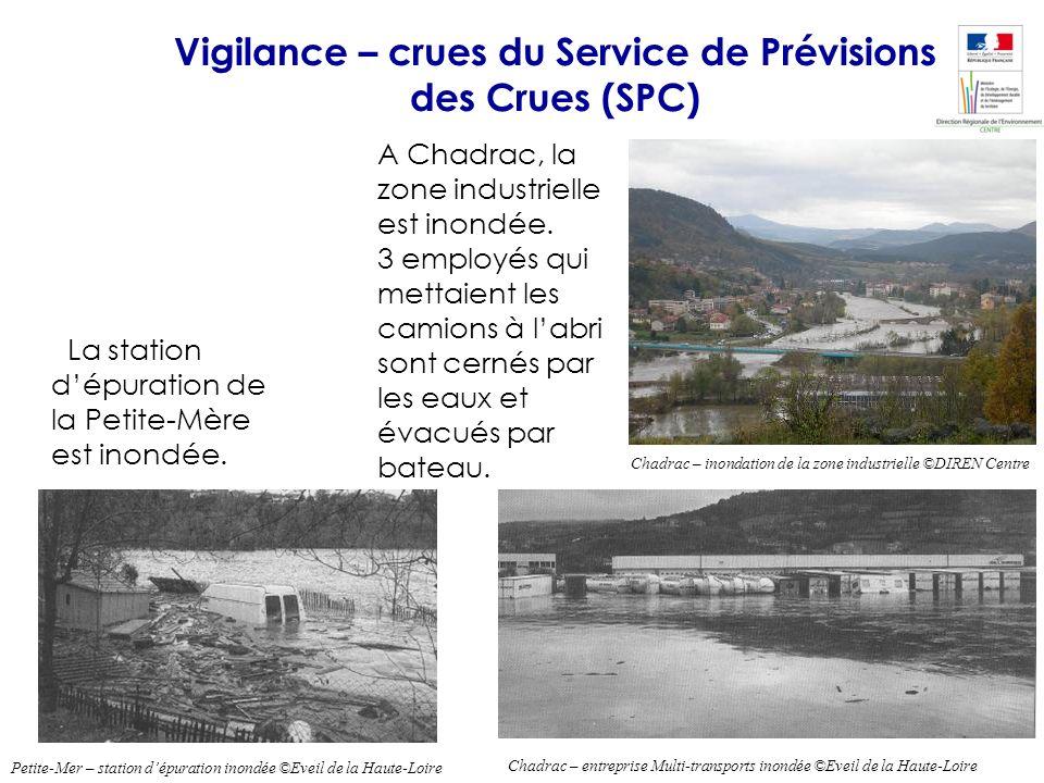 Vigilance – crues du Service de Prévisions des Crues (SPC)
