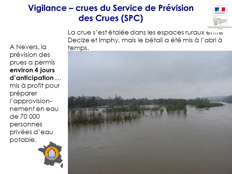 Vigilance – crues du Service de Prévision des Crues (SPC)