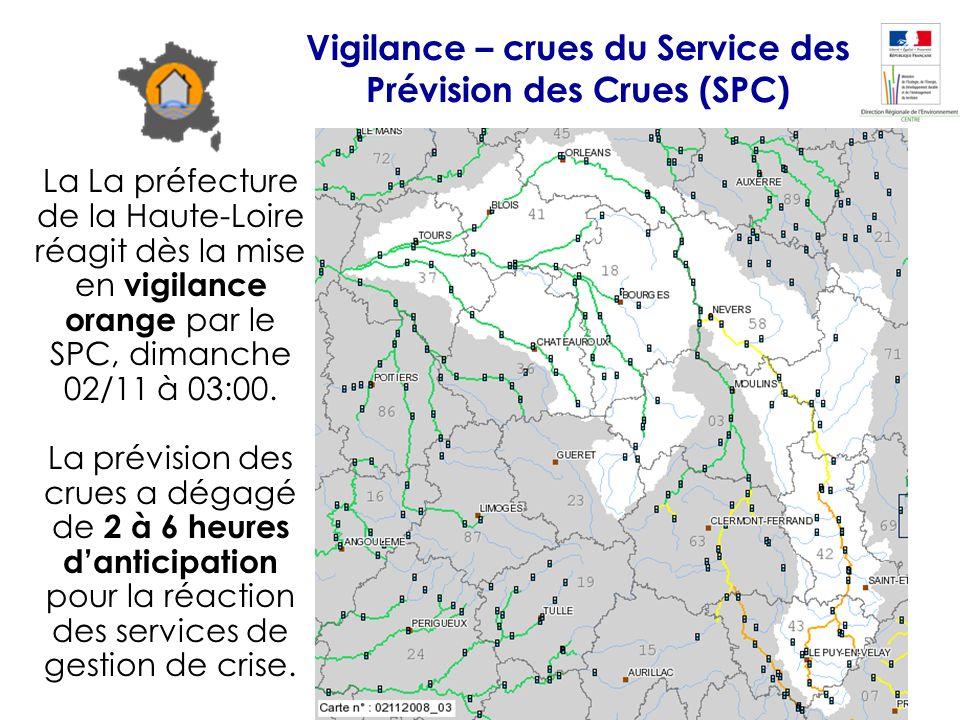 Vigilance – crues du Service des Prévision des Crues (SPC)