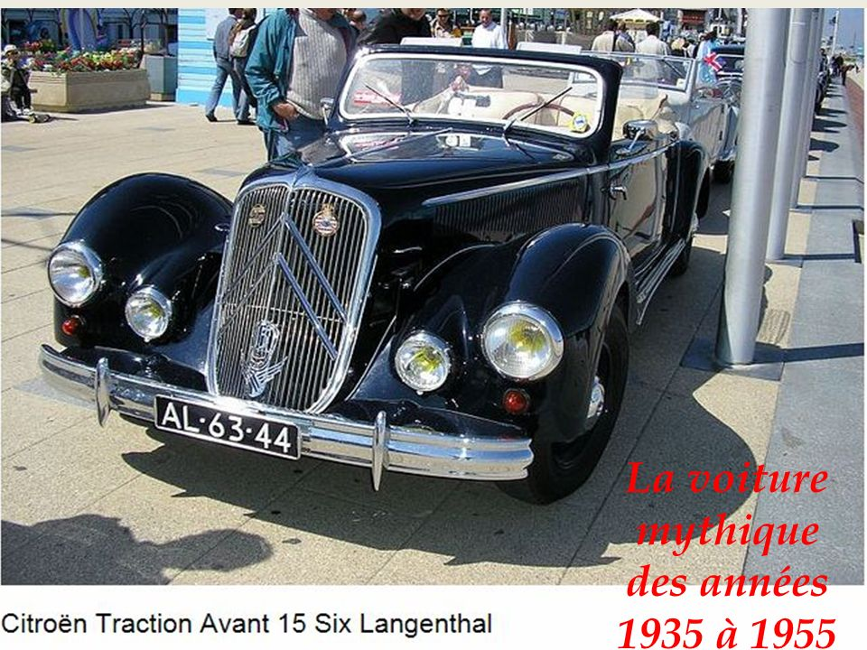 La voiture mythique des années 1935 à 1955