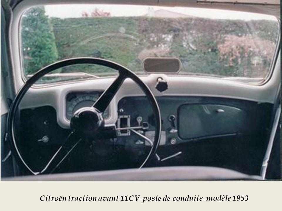 Citroën traction avant 11CV-poste de conduite-modèle 1953