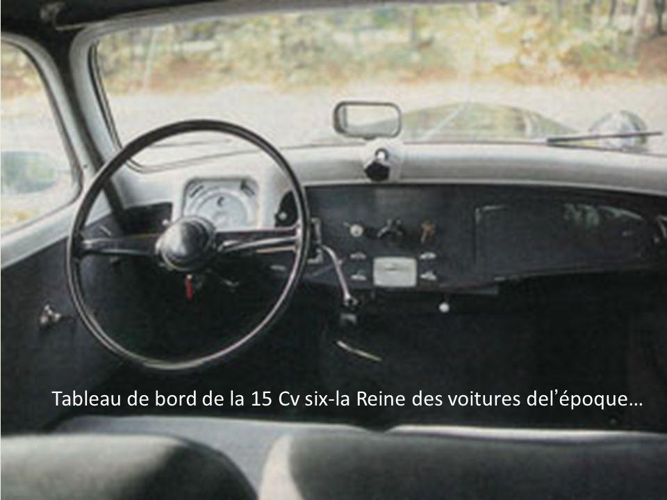 Tableau de bord de la 15 Cv six-la Reine des voitures del'époque…