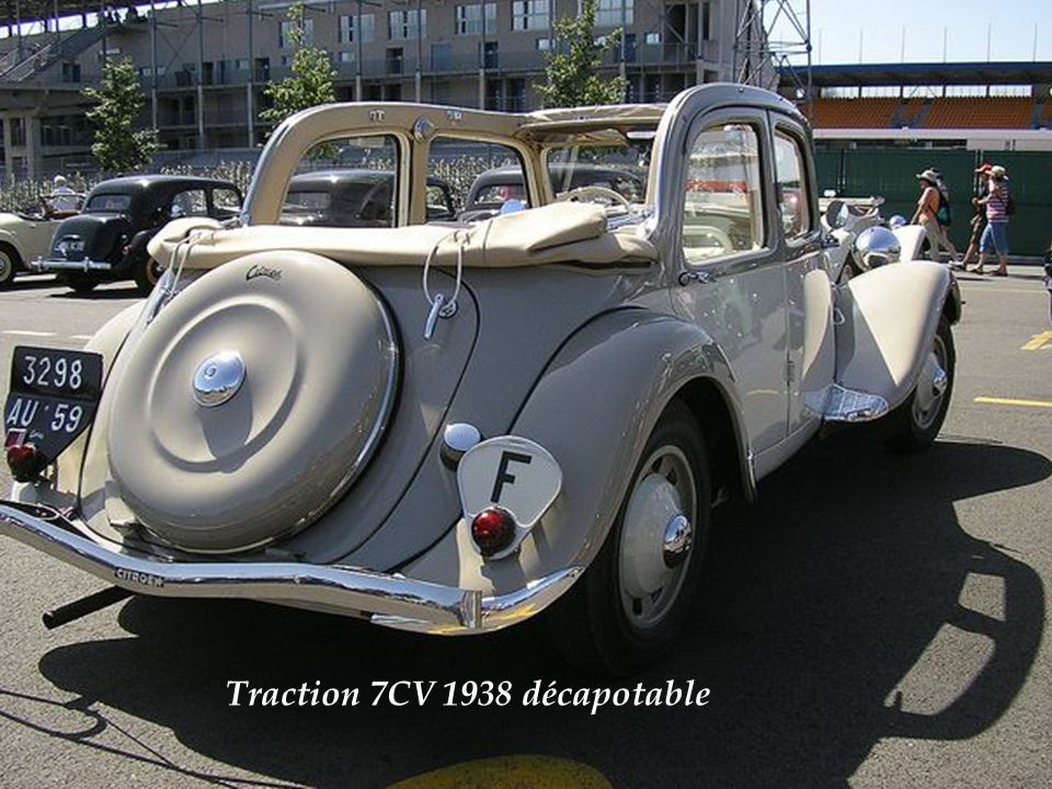 Traction 7CV 1938 décapotable